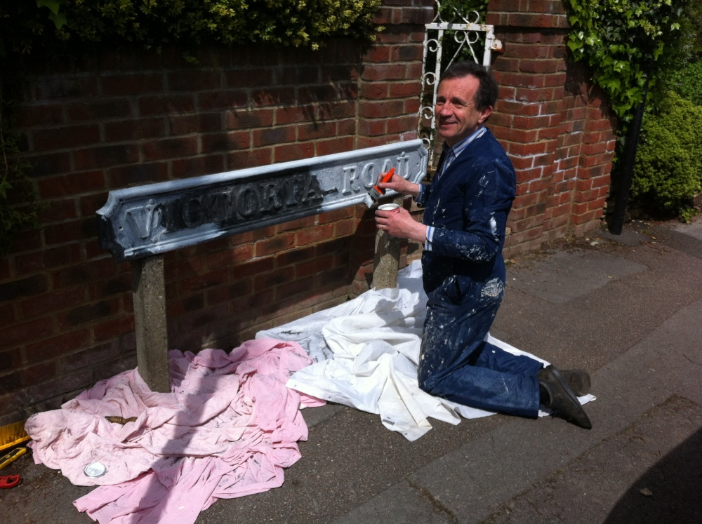 Missed a Spot: Sprucing Up the Road for Queen's Jubilee  (1/2)