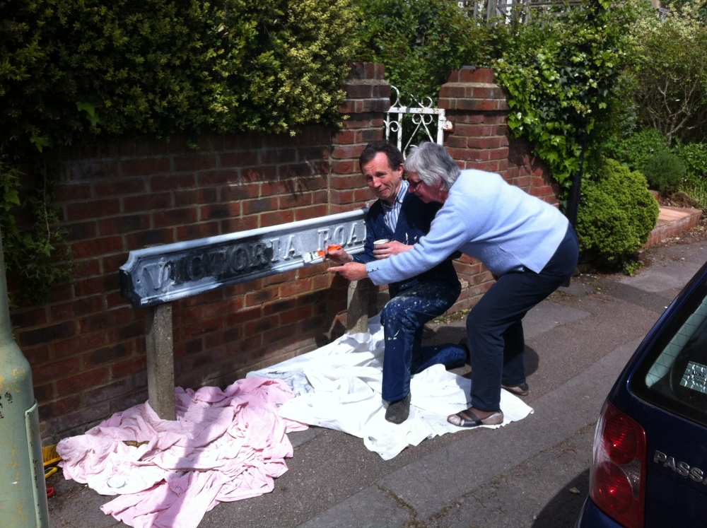 Missed a Spot: Sprucing Up the Road for Queen's Jubilee  (2/2)